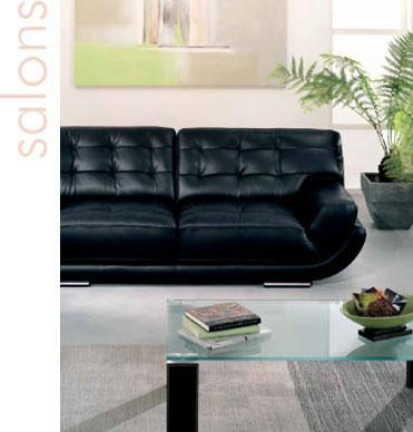 salon cuir de style contemporain mandalay. Black Bedroom Furniture Sets. Home Design Ideas