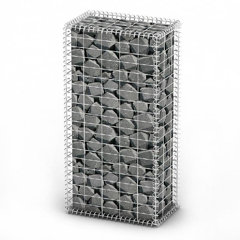 Vidaxl panier de gabion avec couvercle fil galvanisé 100 x 50 x 30 cm