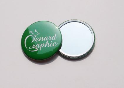 Badges miroir 56 mm sur mesure for Prix miroir sur mesure