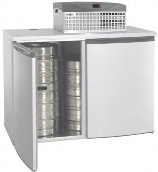 Chambre de refroidissement pour fûts à bières - capacité 8 à 16 fûts mercatus