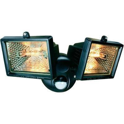 Double projecteur pir avec d tecteur de mouvements noir elro for Projecteur avec detecteur de mouvement