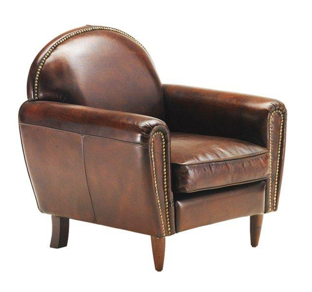 fauteuil club tradition vintage cuir marron. Black Bedroom Furniture Sets. Home Design Ideas