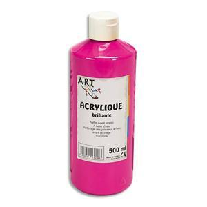 ACRYLIQUE BRILLANTE 500ML ROUGE PRIMAIRE