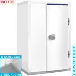 Chambre épaisseur d\'isolation 100 dimension intérieur 1240x1240x hauteur 1950 mm minicold iso 100 plus isolation 100 mm 1440x1440xh2150 - c3.5a/10pm