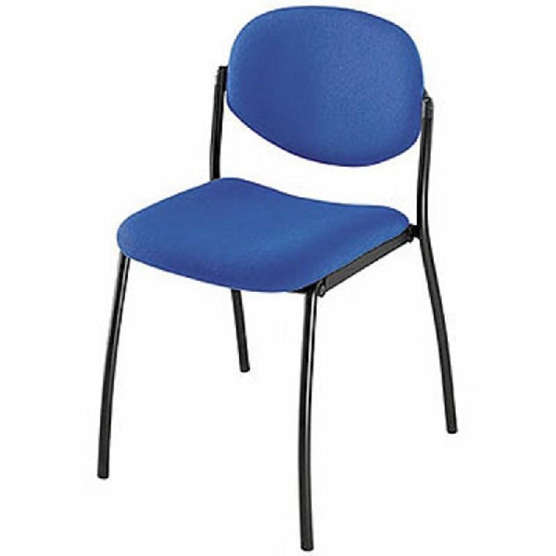 Chaise visiteur empilable lexia en tissu hauteur for Chaise visiteur