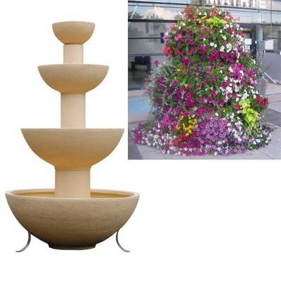 Jardiniere cascade 4 vasques 600l for Vasques pour fleurs jardin