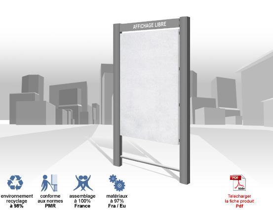 Panneaux d 39 affichage exterieur lythe libre 2v 2m vertical for Affichage exterieur
