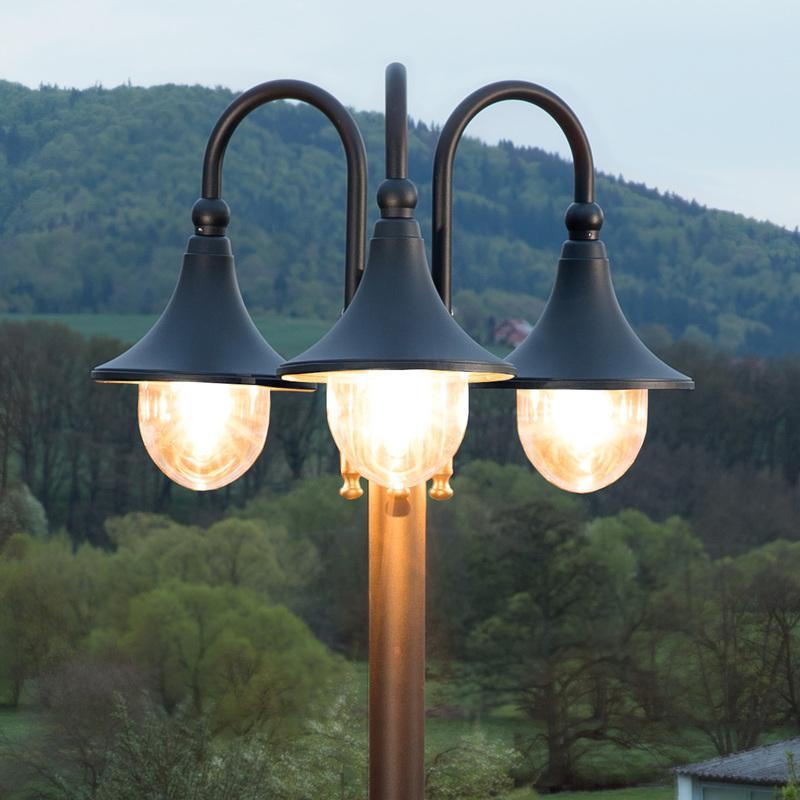 Lampadaires de jardin lampenwelt achat vente de for Candelabre exterieur