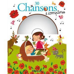 LIVRE 30 CHANSONS ET COMPTINES AVEC 1 CD