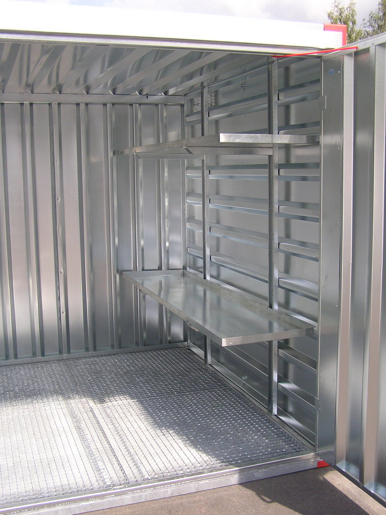 Rayonnage pour container for Chambre container