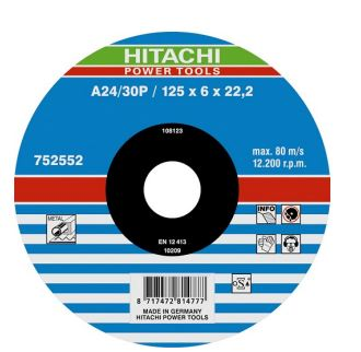 Lot de 25 disques à ébarber pour métal a24/30p 125mm réf.    0005848