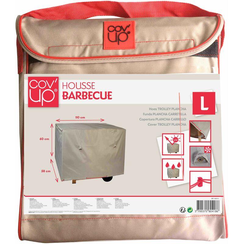 housse de protection pour barbecue xxl 150 x 60 cm taupe. Black Bedroom Furniture Sets. Home Design Ideas