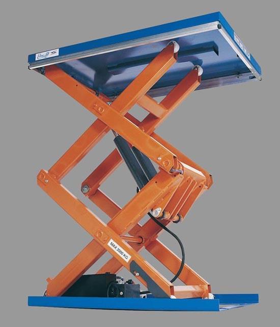Table elevatrice double ciseaux verticaux for Table elevatrice a ciseaux