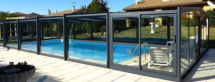 abris de piscine mi haut 3 angles. Black Bedroom Furniture Sets. Home Design Ideas