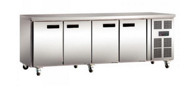 Table réfrigérée sans dosseret 4 portes 616 litres série 700 2230x700x850 - tcp4p7al