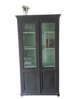 Vitrines de salon bibliothèque vintage avec portes vitrées - 1930