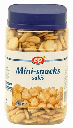 ASSORTIMENT DE MINI-SNACKS SALÉS 350G