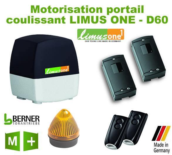 Motorisations de portails limus one achat vente de for Limus one g70 motorisation porte de garage
