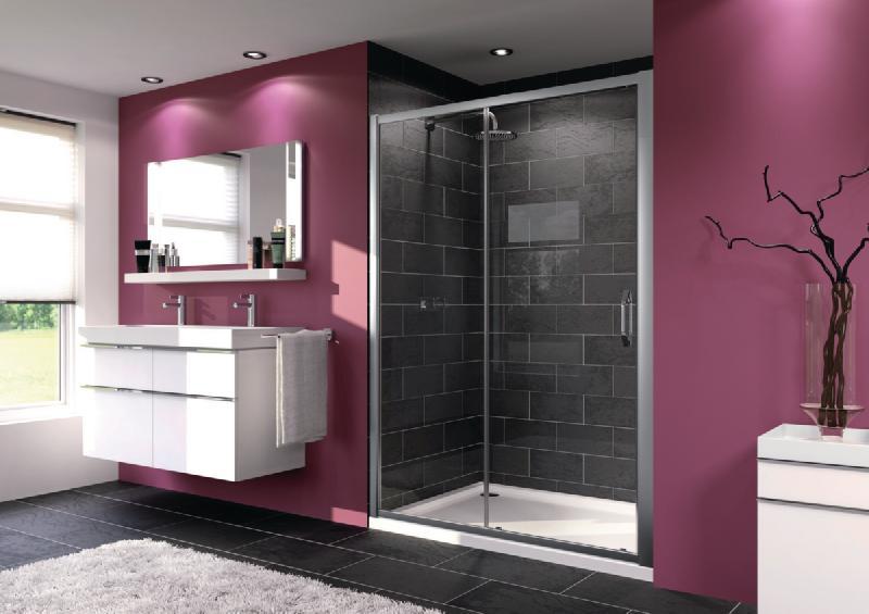 paroi de douche porte coulissante grande largeur 1 element avec segment fixe x1 flex 87x11x204. Black Bedroom Furniture Sets. Home Design Ideas