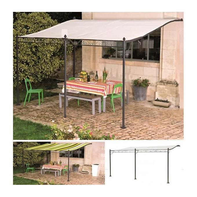 auvent pergola adoss pour terrasse gm 3 x 4 m avec toile. Black Bedroom Furniture Sets. Home Design Ideas