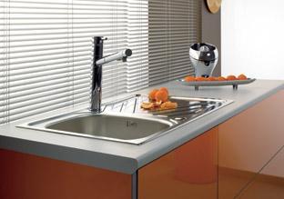 evier inox a encastrer 1 cuve 1 egouttoir samba 101. Black Bedroom Furniture Sets. Home Design Ideas