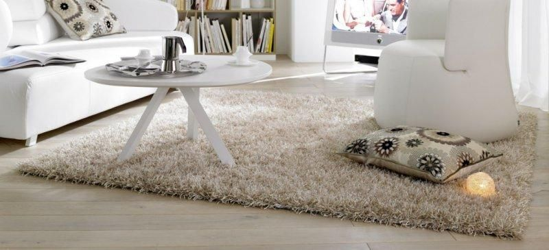 feeling tapis epais creme 200x300 cm. Black Bedroom Furniture Sets. Home Design Ideas