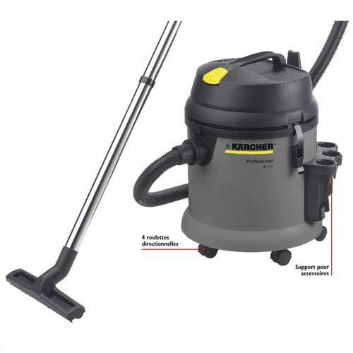Karcher aspirateur eau et poussière pro nt27/1 1380 watts, dépression 18 kpa, capacité 27 litres 72db
