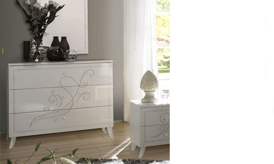Commode design blanche chambre adulte altone - Commode chambre adulte design ...