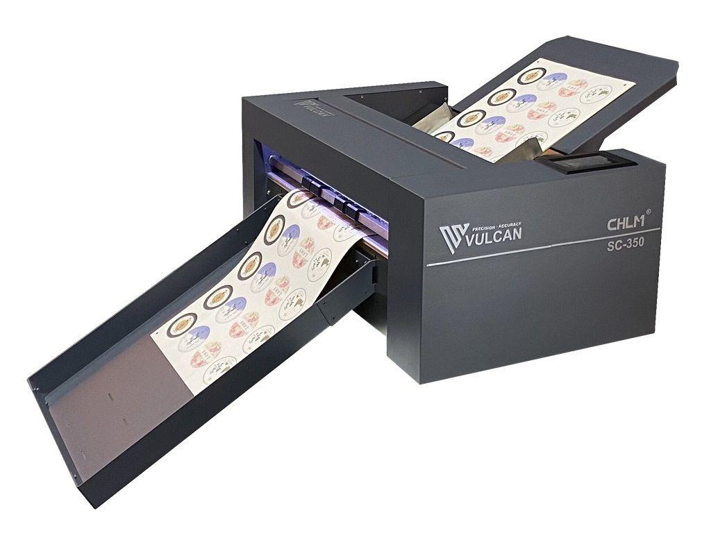 Découpeuse d'étiquettes en planches vulcan sc350