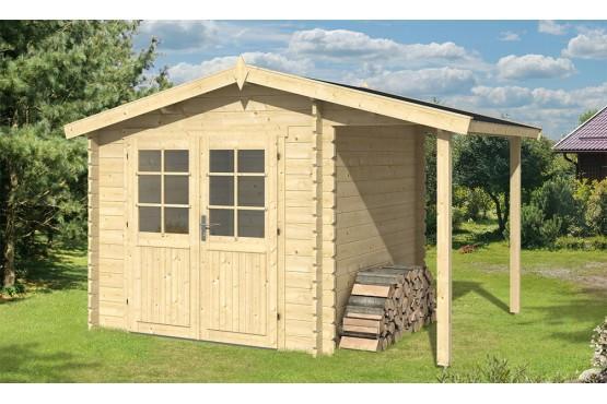 cabanes en bois abri de jardin bretagne appentis 34 mm 350 x 250cm. Black Bedroom Furniture Sets. Home Design Ideas