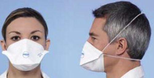MASQUE RESPIRATOIRE FFP2 SANS VALVE; POUR GRIPPE H1N1, AUTRES VIRUS, POUSSIÈRES BÂTIM