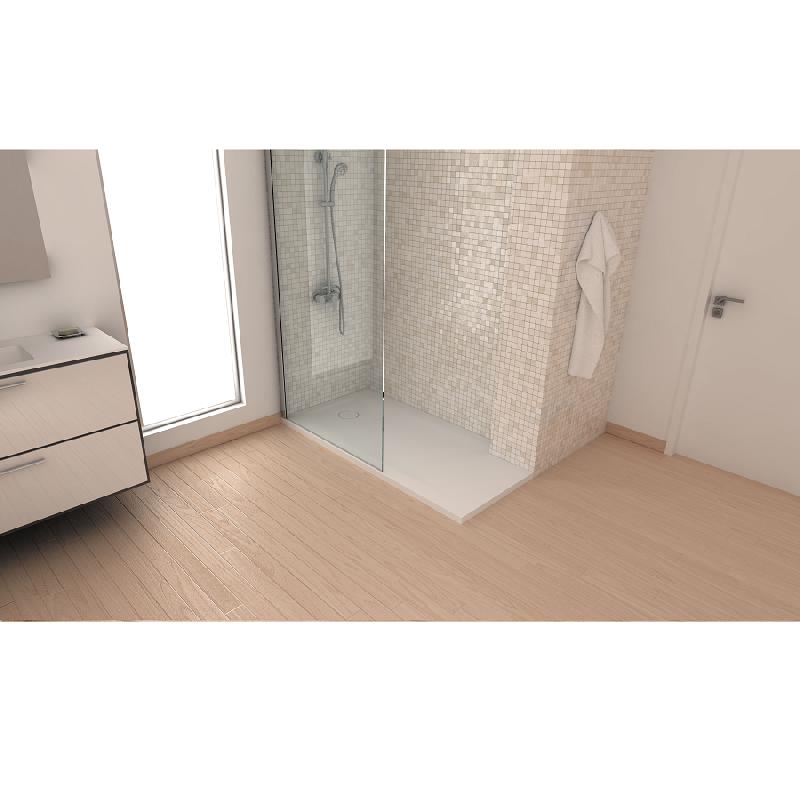 receveur de douche 80 x 120 cm mode en solid surface - Douche Italienne Dimension1752