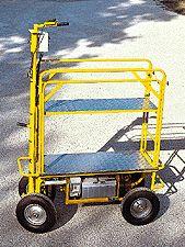 Chariot électrique réglable sur roues *