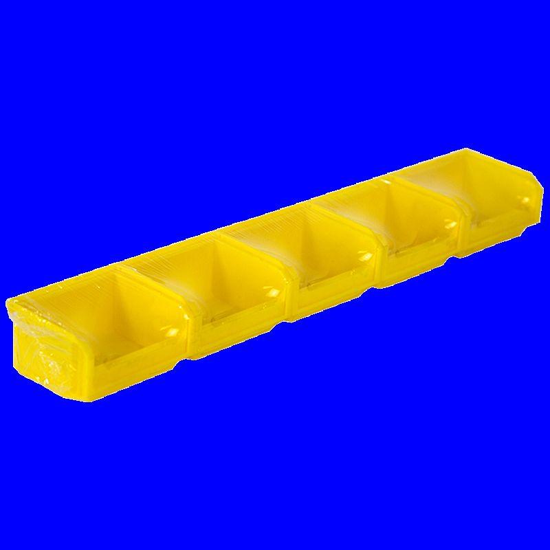 Lot de 5 bacs european 0,3l jaune avec barre - 5012031