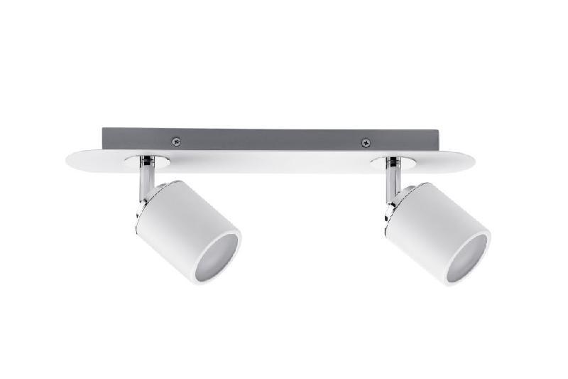 paulmann projecteur tube 2 spot blanc chrome sans ampoule max 10w gu10 66718 comparer les. Black Bedroom Furniture Sets. Home Design Ideas