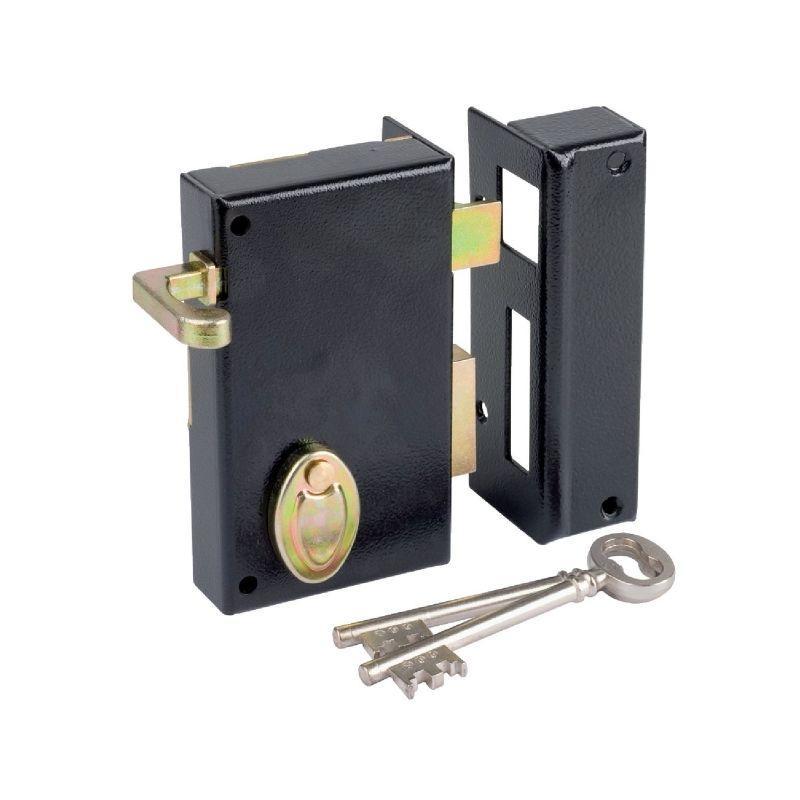 serrure gorge en applique noire droite tirage axe 45 mm s rie 802 dom comparer les. Black Bedroom Furniture Sets. Home Design Ideas