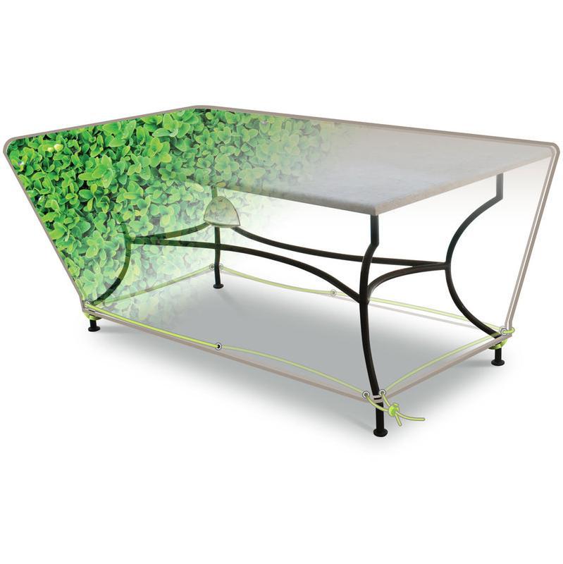 Housses pour mobiliers de jardin jardideco achat vente - Housse de protection pour table de jardin rectangulaire ...