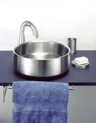 vasque ronde en inox. Black Bedroom Furniture Sets. Home Design Ideas