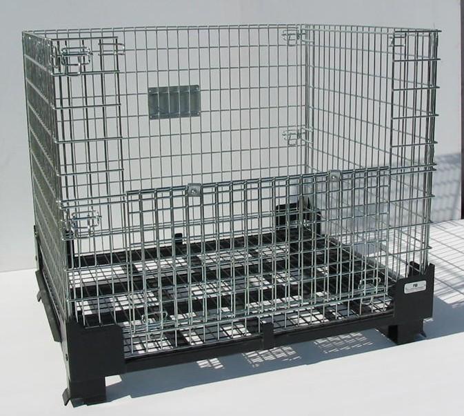 pool management produits de la categorie caisse palette metallique pliable. Black Bedroom Furniture Sets. Home Design Ideas