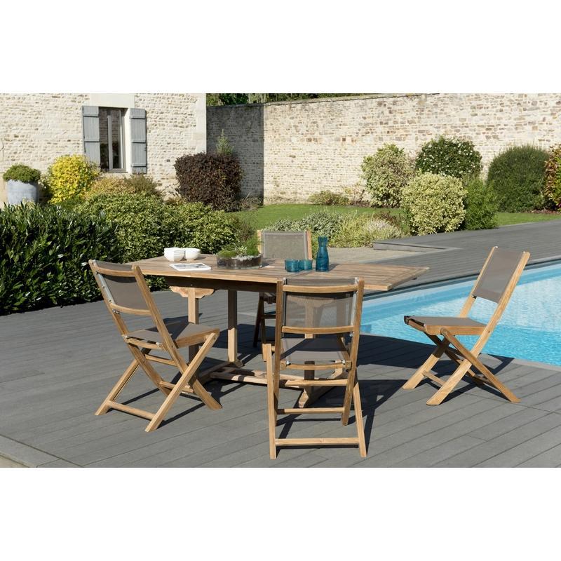 SALON DE JARDIN N°144 COMPRENANT 1 TABLE SOHO 180*90CM COULEUR ...