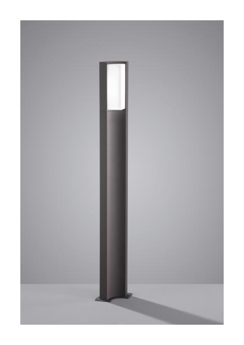 BORNE EXTÉRIEURE LED TRIO SUEZ GRIS ANTHRACITE FONTE D'ALUMINIUM 420360142