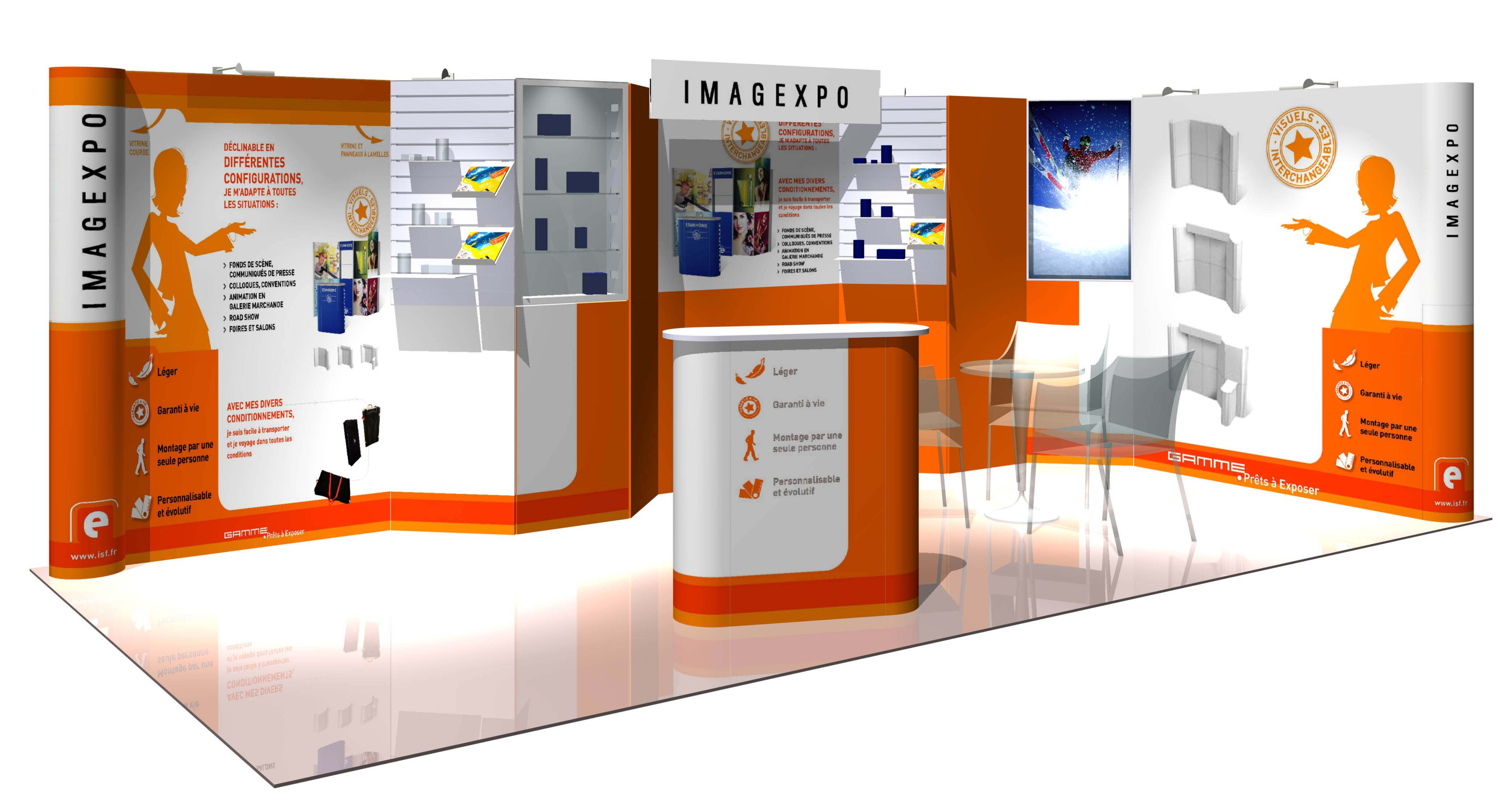 Stand evolutif imagexpo sans outil for Montage stand salon