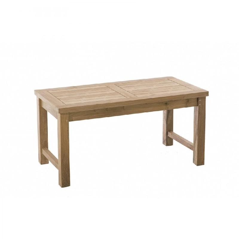 Table basse de jardin rectangulaire 90*45 cm fun en teck