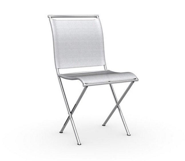 calligaris chaise pliante design air folding structure acier chrom assise tissu gris comparer. Black Bedroom Furniture Sets. Home Design Ideas
