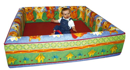 Grand parc en mousse 140x140cm for Parc interieur pour enfant