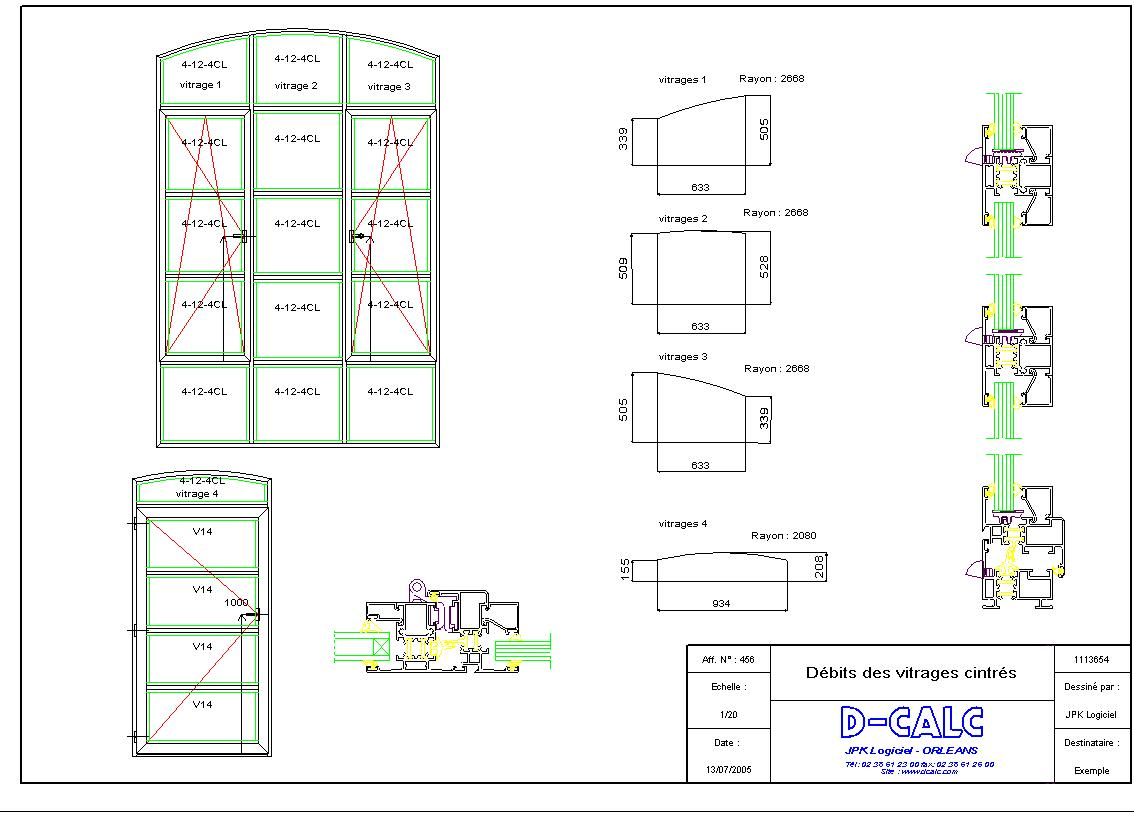 logiciel de conception de dessins 2d d calc facade 3000. Black Bedroom Furniture Sets. Home Design Ideas