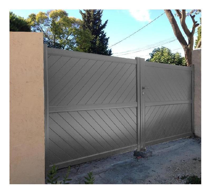 Portail aluminium battant tous les fournisseurs de for Portillon plein