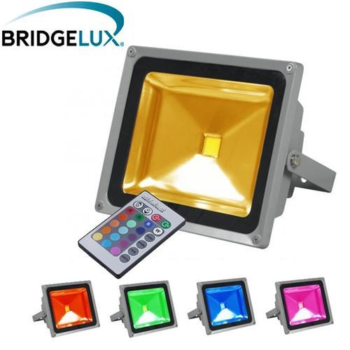 projecteur led ext rieur 50w rgb multicolore comparer les prix de projecteur led ext rieur. Black Bedroom Furniture Sets. Home Design Ideas