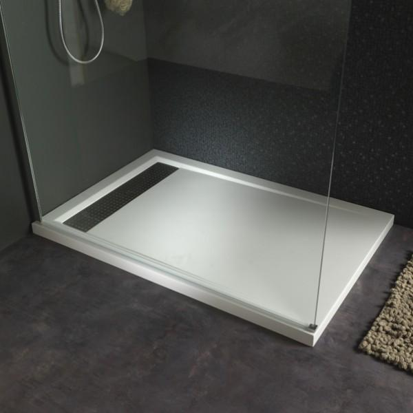 receveur extra plat poser design 80x120 blanc planetebain comparer les prix de receveur. Black Bedroom Furniture Sets. Home Design Ideas
