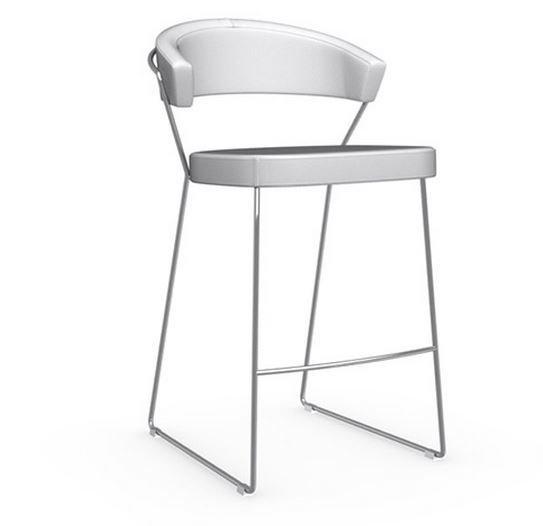 Calligaris chaise de bar new york design italienne en tissu